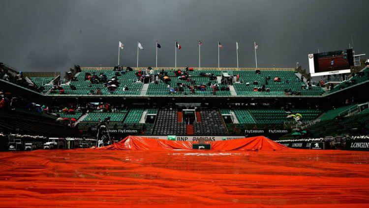 Lapangan yang akan jadi venue Prancis Terbuka 2019. Copyright: © Getty Images