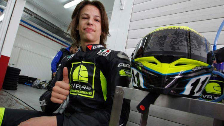 Pembalap muda asal Italia, Franco Morbidelli resmi bertahan di tim satelit Petronas Yamaha SRT, setelah sepakat untuk memperpanjang kontrak hingga MotoGP 2022, Senin (13/07/20). Copyright: © Ride Apart