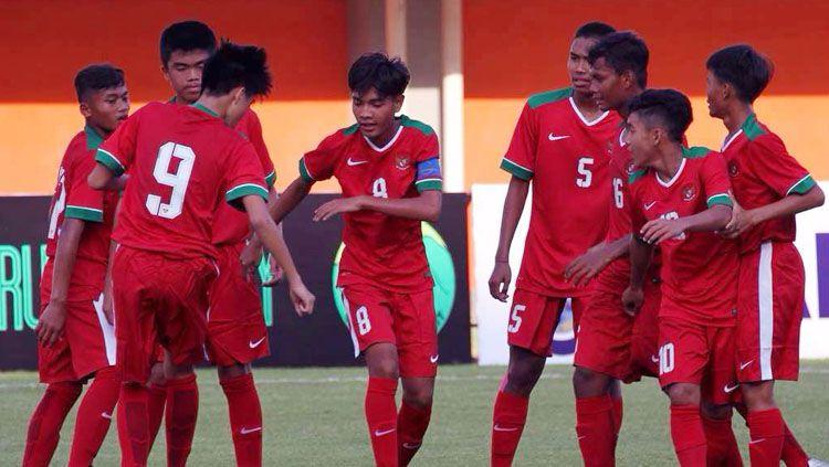 Selebrasi pemain Timnas U-16. Copyright: © Istimewa
