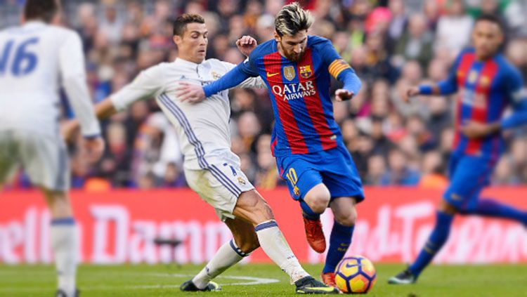 Duel Cristiano Ronaldo dan Lionel Messi. Copyright: © getty images