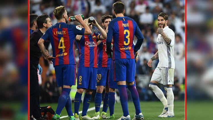 Berkah jadi Sergio Ramos ketika Barcelona menang dramatis atas Sevilla, Gerard Pique langsung bawa kabar buruk ini. Copyright: © getty images