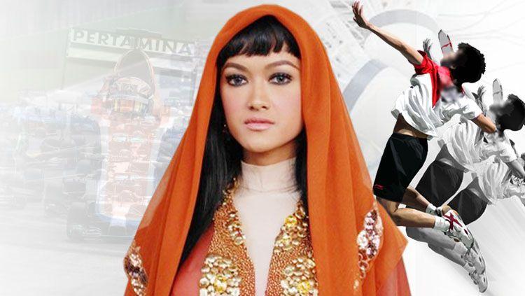 Julia Perez pernah memberi perhatian kepada sejumlah atlet Indonesia non sepakbola. Copyright: © Info Kemenpora