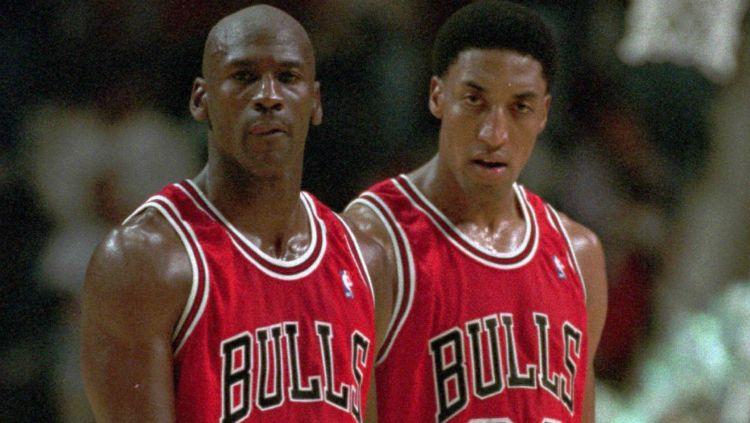 Michael Jordan dan Scottie Pippen Copyright: © USA Today