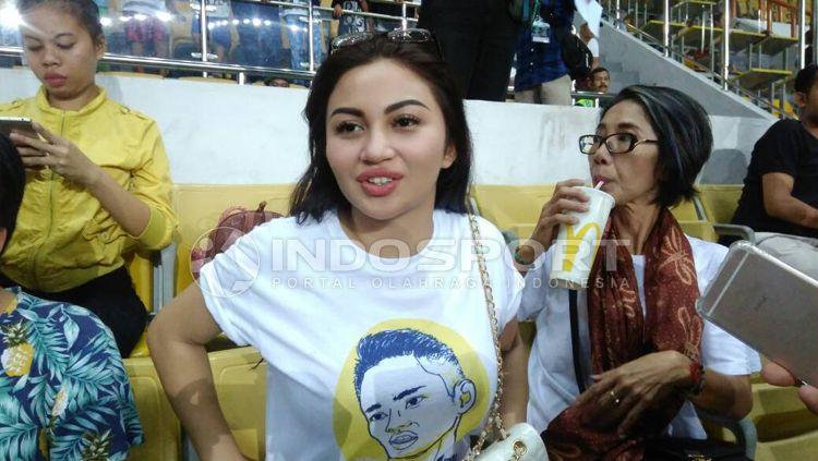 Ariel Tatum ketika ditemui awak media di Stadion Wibawa Mukti, Cikarang, Bekasi. Copyright: © Muhammad Adiyaksa/INDOSPORT