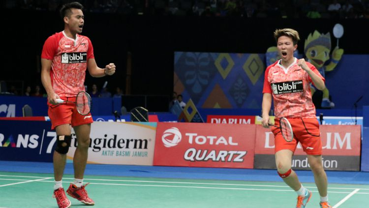 Tontowi Ahmad/Liliyana Natsir merebut tiket semifinal Indonesia Open 2017. Copyright: © Humas PBSI