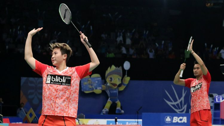 Tontowi Ahmad/Liliyana Natsir saat merebut tiket semifinal Indonesia Open 2017. Copyright: © Humas PBSI