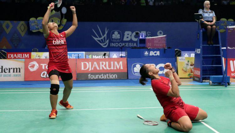 Anggia Shitta Awanda/Ni Ketut Mahadewi Istarani lolos ke semifinal Indonesia Open 2017. Copyright: © Humas PBSI