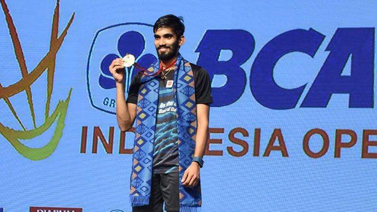 Kidambi Srikanth menjadi juara setelah menumbangkan Sakai Sato di partai final. Copyright: ©