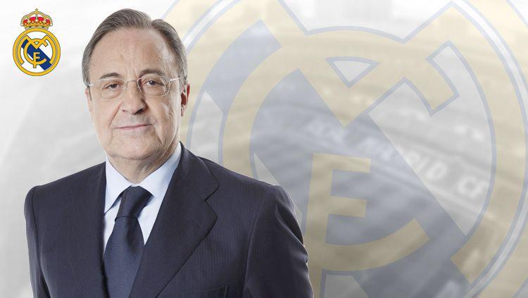 Florentino Perez malah bikin raksasa LaLiga Spanyol, Real Madrid gagal jadi versi 3.0. Enrique Riquelme, penantangnya memilih undur diri. Copyright: © Grafis: Eli Suhaeli/INDOSPORT