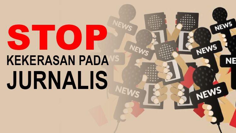 Kekerasan terhadap jurnalis masih terjadi, termasuk di dunia olahraga Indonesia. Copyright: © Grafis: Tim/Indosport.com