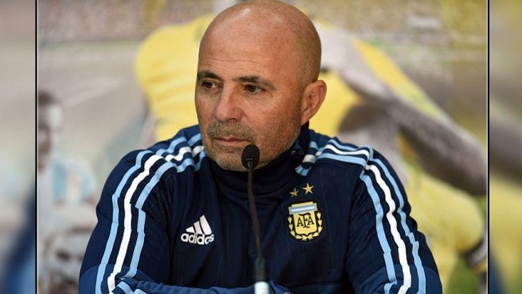 Pelatih Timnas Argentina, Jorge Sampaoli. Copyright: © getty images