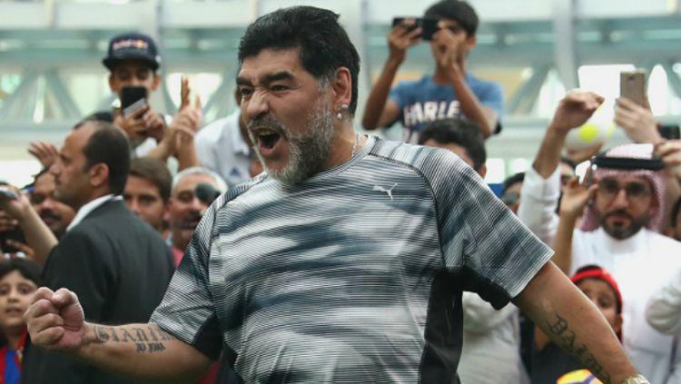 Diego Maradona, legenda Timnas Argentina. Copyright: ©