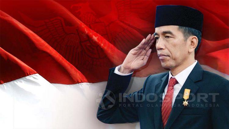 Presiden Joko Widodo. Copyright: © Grafis:Yanto/Indosport.com
