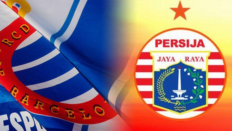 Logo Espanyol vs Persija Jakarta. Copyright: © Indosport.com