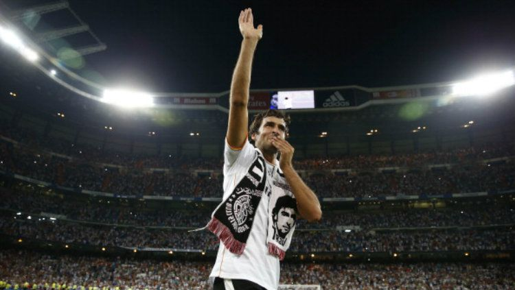 Legenda Real Madrid, Raul Gonzalez. Copyright: © Helios de la Rubia/Real Madrid via Getty Images