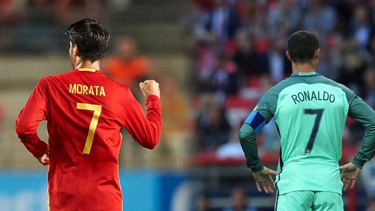 Alvaro Moratau dan Cristiano Ronaldo. Copyright: © Getty Images