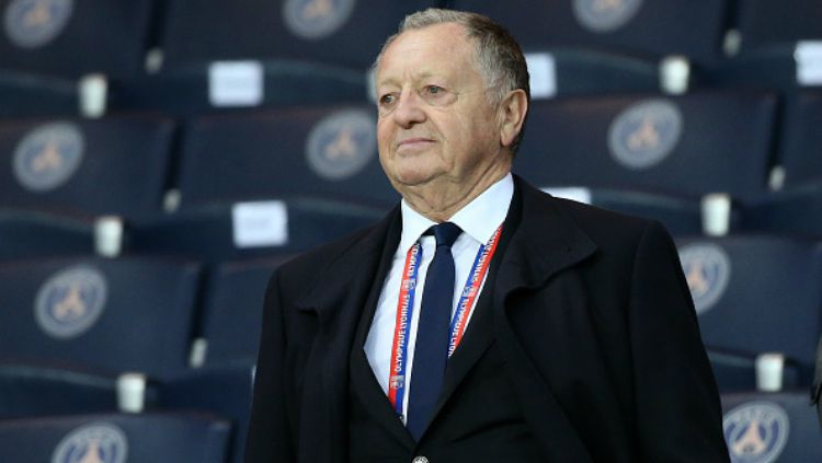 Presiden Olympique Lyon, Jean-Michel Aulas. Copyright: © getty images