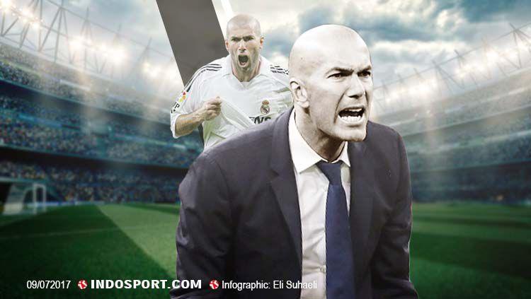 Pelatih Real Madrid, Zinedine Zidane. Copyright: © Grafis: Eli Suhaeli/INDOSPORT
