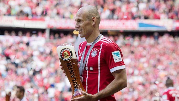 Penyerang Bayern Munchen, Arjen Robben. Copyright: © INDOSPORT