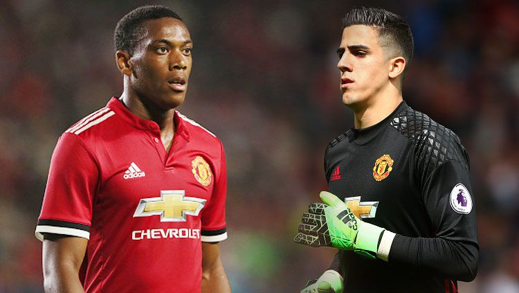 Anthony Martial (kiri) dan Joel Pereira. Copyright: © INDOSPORT