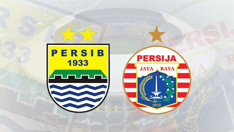 Persib Bandung vs Persija Jakarta. Copyright: © Grafis: Eli SUhaeli/INDOSPORT/Wikipedia