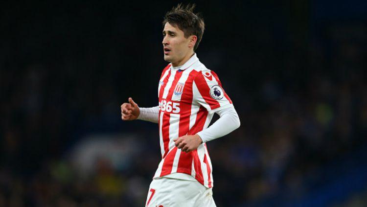 Bojan Krkic saat memperkuat Stoke City. Copyright: © Indosport