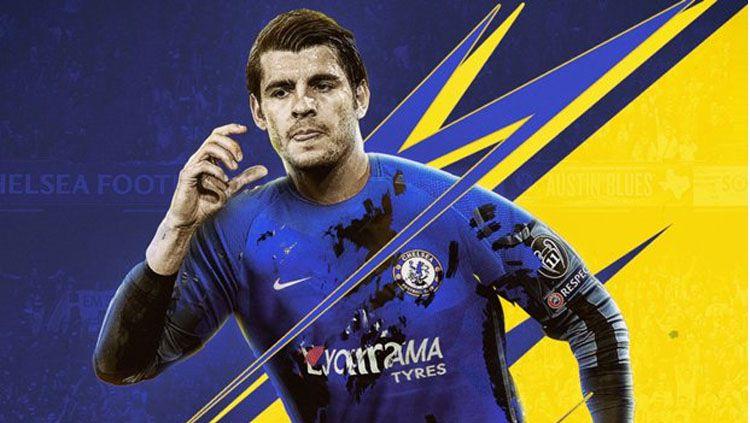 Alvaro Morata akan memakai jersey Chelsea musim depan. Copyright: © Goal.com