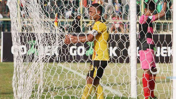 Selebrasi Rizky Pora. Copyright: © Liga-indonesia.id