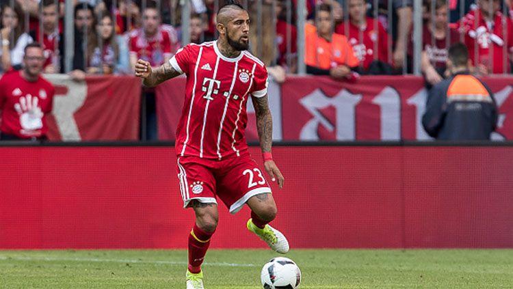 Gelandang serang Bayern Munchen, Arturo Vidal. Copyright: © INDOSPORT