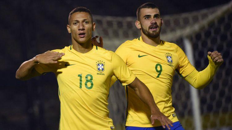 Penyerang Everton dan Timnas Brasil, Richarlison, menjadi pemain incaran Manchester United pada jendela transfer musim dingin mendatang. Copyright: © Sky Sports
