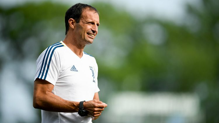 Pelatih Juventus, Massimiliano Allegri. Copyright: © Getty Images
