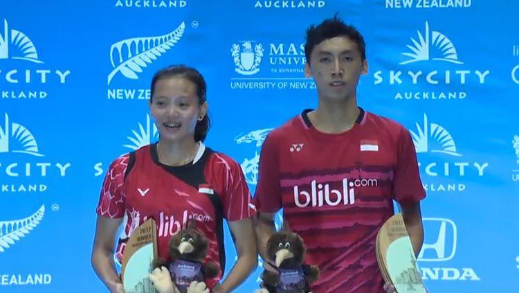 Ganda campuran Indonesia, Ronald Alexander, Annisa Saufika menjuarai Selandia Baru Grand Prix Gold 2017. Copyright: © Twitter@bulutangkisRI