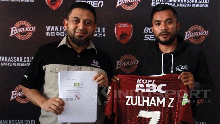 Zulham Zamrun (PSM Makassar) Copyright: © Muhammad Nur basri/Indosport.com