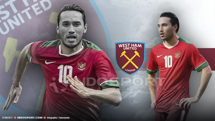 Ezra Walian berpeluang untuk memperkuat West Ham United. Copyright: © Grafis:Yanto/Indosport/topsy.one