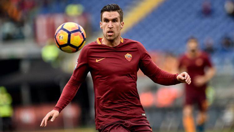 Kevin Strootman, gelandang serang AS Roma. Copyright: © Indosport