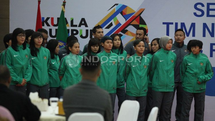 Skuat Timnas Futsal Putri. Copyright: © Herry Ibrahim/Indosport.com