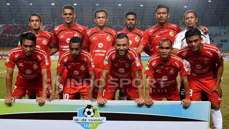 Skuat Semen Padang. Copyright: © Taufik Hidayat/INDOSPORT