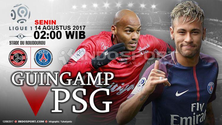 Prediksi Guingamp vs PSG. Copyright: © Grafis:Yanto/Indosport.com