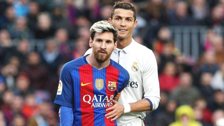 Lionel Messi dan Cristiano Ronaldo. Copyright: © YouTube.