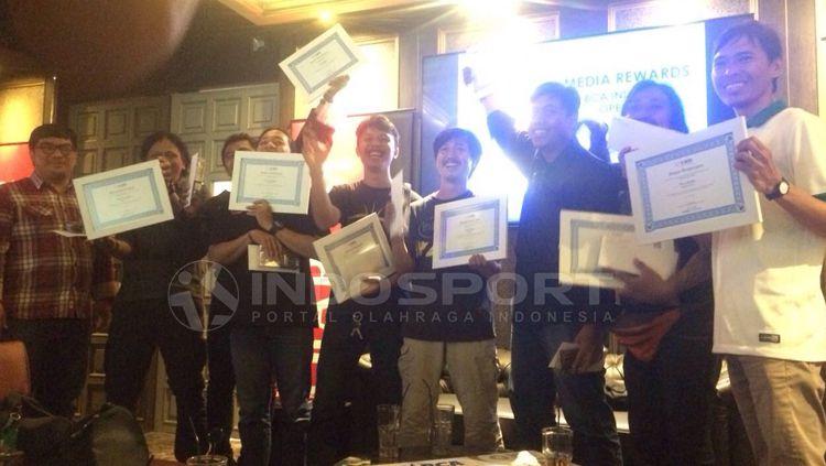 Penerimaan pemenang lomba BCA Indonesia Open. Copyright: © Zainal Hasan/INDOSPORT