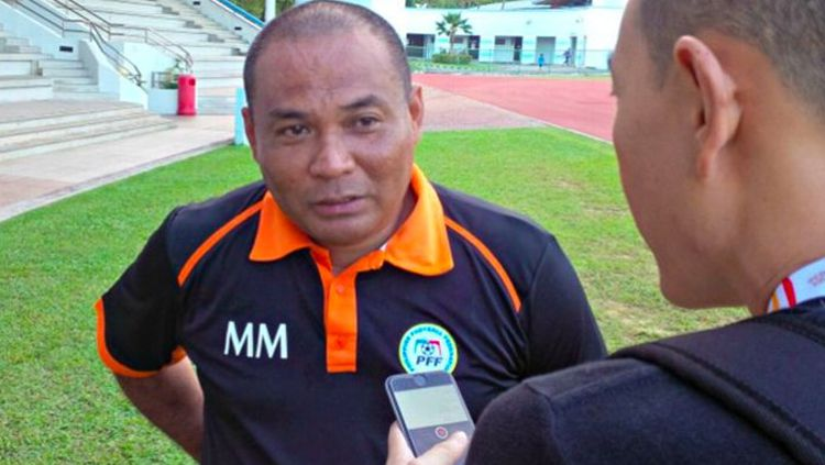 Pelatih Timnas Filipina, Marlon Maro. Copyright: © Istimewa