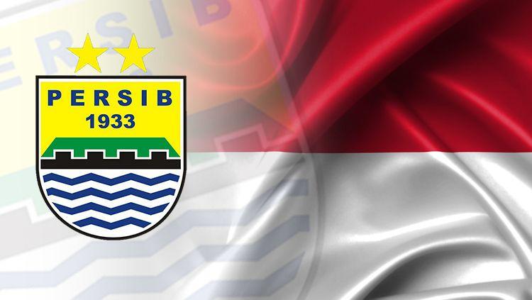 Persib Bandung dan bendera Indonesia. Copyright: © Grafis: Eli Suhaeli/INDOSPORT