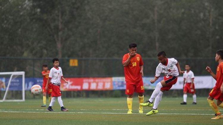 Cipta Cendikia FA melaju ke Playoff A turnamen Gothia Cup China 2017. Di pertandingan ke-3 CCFA berhasil menang 7-0 melawan team KTR Xin Jiang, Rabu (16/8/2017). Copyright: © Istimewa