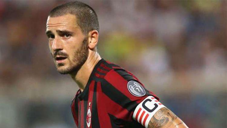 Leonardo Bonucci memang pantas menjadi kapten AC Milan. Copyright: © INDOSPORT