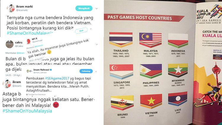 Berbagai respons warganet Indonesia membalas insiden bendera terbalik. Copyright: © Istimewa