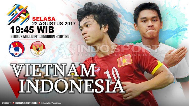Prediksi Vietnam U-22 vs Indonesia U-22 Copyright: © Grafis:Yanto/Indosport.com