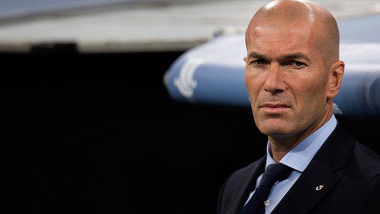 Zinedine Zidane, pelatih Real Madrid. Copyright: © INDOSPORT