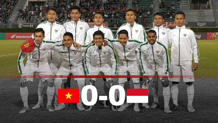 Babak pertama Vietnam vs Indonesia. Copyright: © Grafis: Eli Suhaeli/INDOSPORT