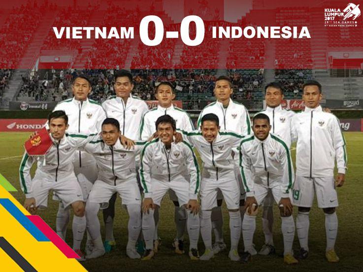 Stagnan, Indonesia Imbangi Vietnam 0-0 di Babak Pertama