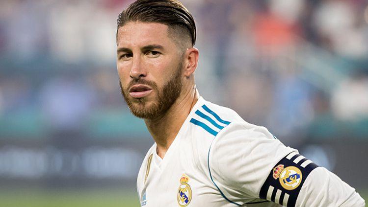 Sergio Ramos, bek tengah sekaligus kapten Real Madrid. Copyright: © Getty Images